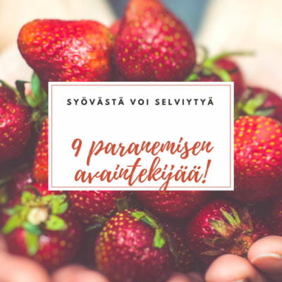 9 paranemisen avaintekijää workshop Frantsilassa! (4.6.-6.6.2018)